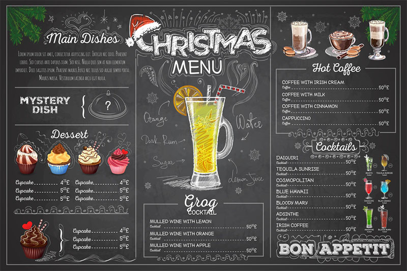 menu quan cafe